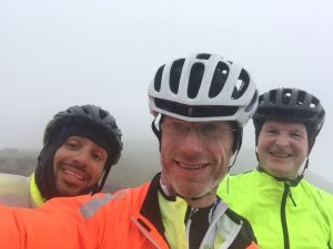 With Nuno and Nick at the top of the Connor Pass