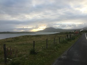 Hills of Achill Island ahead